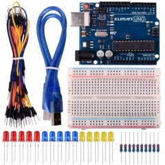 Kuman Basic Starter Kits with UNO R3 for Arduino Robot Project Kit ,Breadboard,LED,resistance and USB Cable including K2