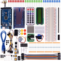 Kuman Mega 2560 Starter Kit for arduino, LCD Servo Motor Sensor Modules with MEGA 2560 Up 35 components  Project learning AVR MCU Learner K21
