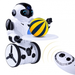 Kuman Remote Control Robot for Kids 2.4Ghz,Smart Self Balancing, 5 Operating Modes,Dancing,Boxing,Driving,Loading,Gesture Sensing RC Robot 1016A