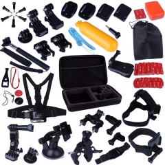 Kuman 44-in-1 Accessories Kit for Gopro Camera with Case,Bundles Kit for Gopro Hero 4 Session/3/2/1 Camera Kit for SJ4000 SJ5000 SJ6000 #MH02