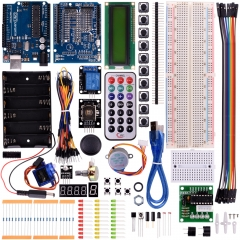 Kuman Newest Starter Kit for Arduino With Uno R3 LCD Sensor Motor AVR MCU Super Learning Kits Learner Module 35 components K23