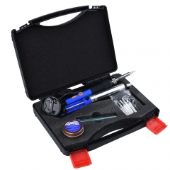 Kuman 8-in-1 Soldering Iron Kit with ON/OFF Switch Adjustable Temperature P8300