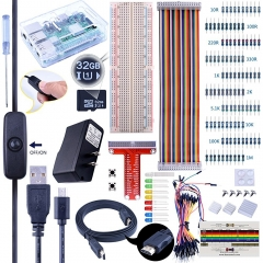 Kuman Raspberry Pi Complete Starter Kit 32GB Edition with 2.5A Power Supply Micro USB Cable with Switch, Heat sinks, HDMI, project kit K74
