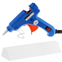 Kuman 20W Hot Glue Gun with 30x Melt Glue Sticks Melting Adhesive Glue Gun Kit for DIY Small Craft & Quick Repairs in Home & Office KA01