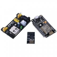 Kuman NodeMCU LUA WiFi ESP8266 Development board + Wifi Wireless Transceiver Esp-01 + Breadboard Power Module 3.3V/5V For Arduino Uno Board KY60