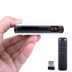 Kuman 8GB Pocket Home Cinema Projector with Kodi NetflixMiracast AirplaySupport HDMI Output Built-in Dual WiFi&Bluetooth, Air Mouse included H6
