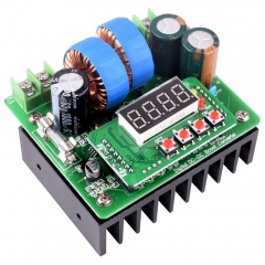 Kuman DC/DC Boost Converter, Digital-controlled Power Supply Stabilizer 6V-40V to 8V-80V Step-up Voltage Regulator 400W/10A with LED QY02