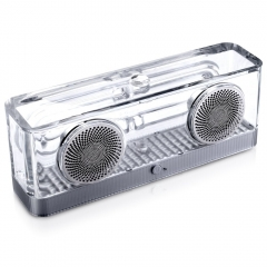 Kuman HIFI Bluetooth Digital Stereo Speakers with Transparent shell for iOS Android KBT-240A