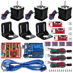 Kuman Arduino 3D printer Kit,GRBL Shield+UNOR3 Board+RAMPS 1.4 Mechanical Switch Endstop+DRV8825 A4988 GRBL Stepper Motor+Nema17 Stepper Motor KB02