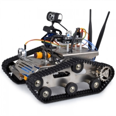 Kuman Wireless Wifi Robot Car Kit for Arduino,Utility Vehicle Intelligent Robotics, Hd Camera, Ds Robot Smart Educational Robot PC IOS Android SM5