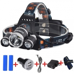 Kuman 4 Mode 3000lm Waterproof Rechargeable LED Headlamp  #KH11